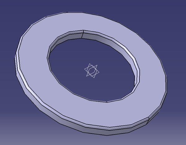 free stainless steel washer 7 3d model