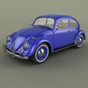 volkswagen beetle 1958 3d max