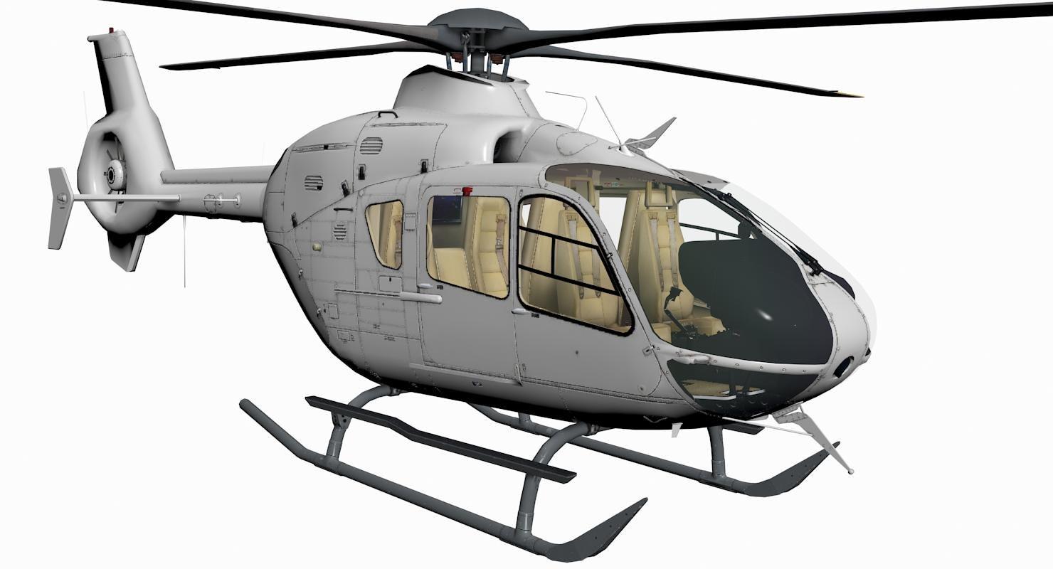 3d ec-135 eurocopter model