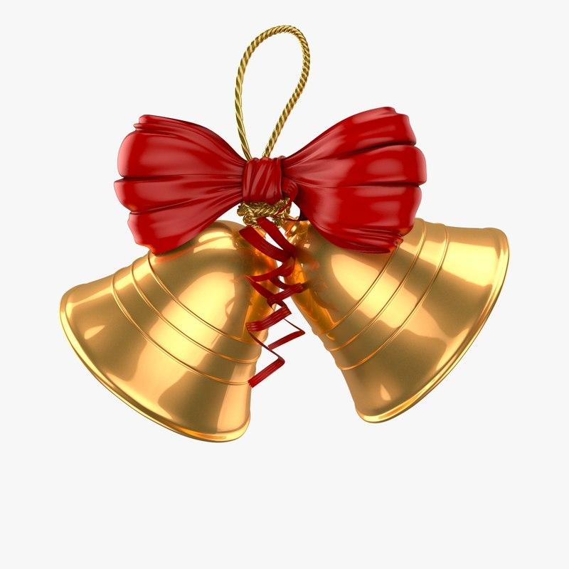 christmas bells 3d max