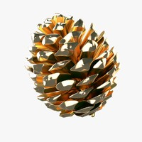 Christmas Golden Pine Cone