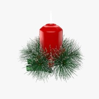 3d model christmas candle 2
