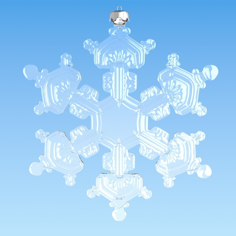 3ds max christmas snowflake decoration