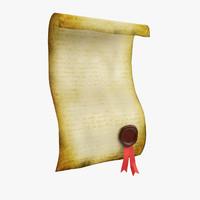 3d scroll model