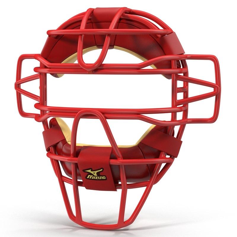3d model of Catchers Face Mask Mizuno 01.jpg