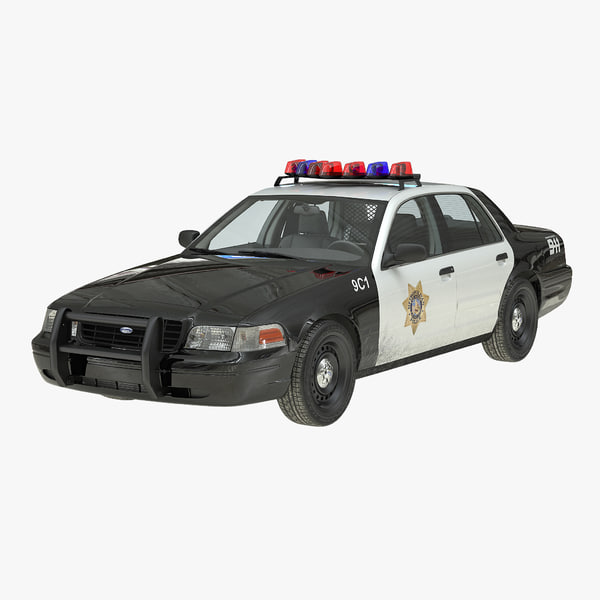 3d crown victoria police car