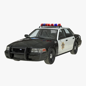 3d model crown victoria police car
