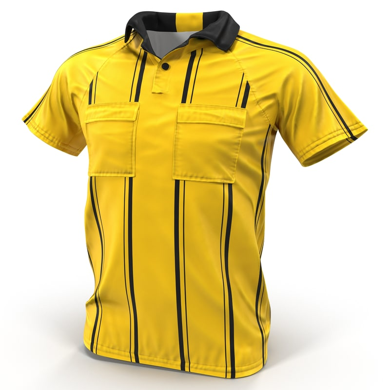 yellow referees jersey 3ds