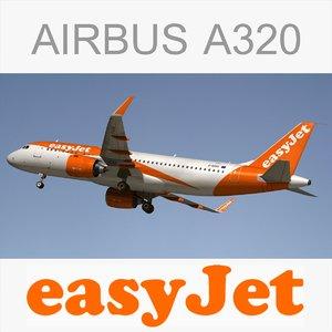 3d model airbus a320 easyjet