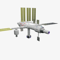 tranquility space station 3d model