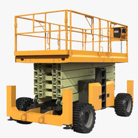 engine powered scissor lift 3d model
