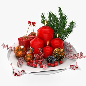 christmas decoration 3d max