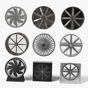 3d large fans