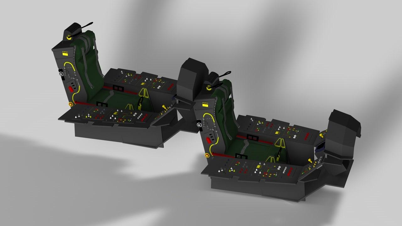 plane cockpit c4d