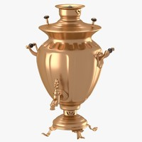 decorated samovar handles obj