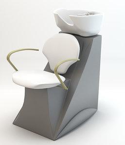3d hair wash chair