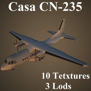3d model casa cn-235 low-poly