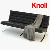 3dsmax barcelona sofa