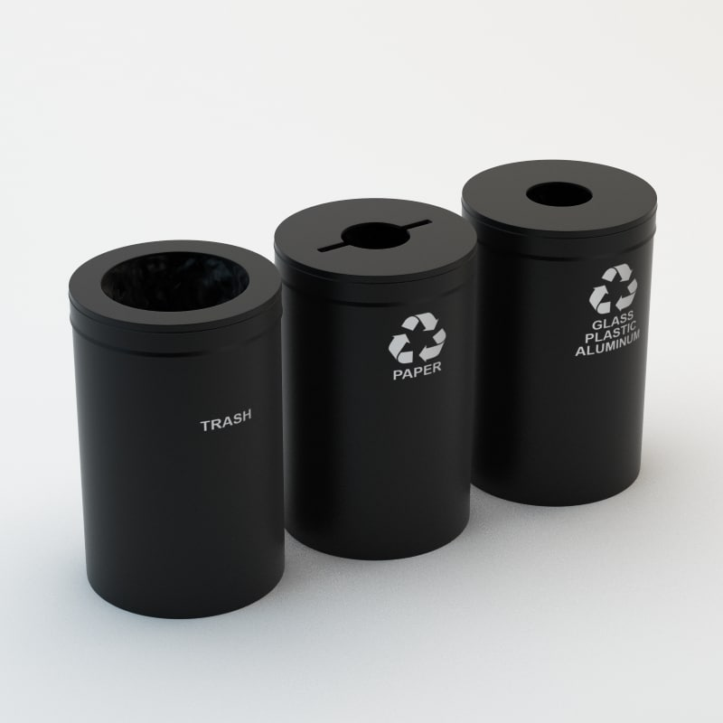 free obj model recycling bins