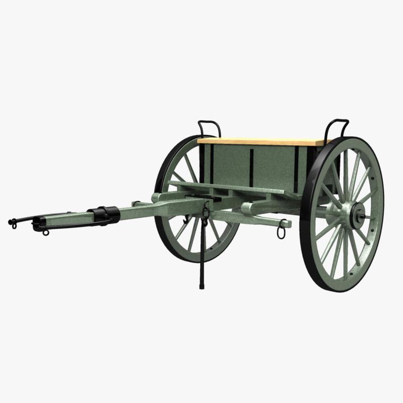 civil war limber cannon obj