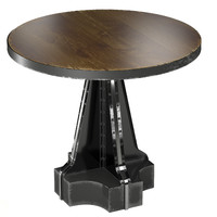 3ds max french column table industrial
