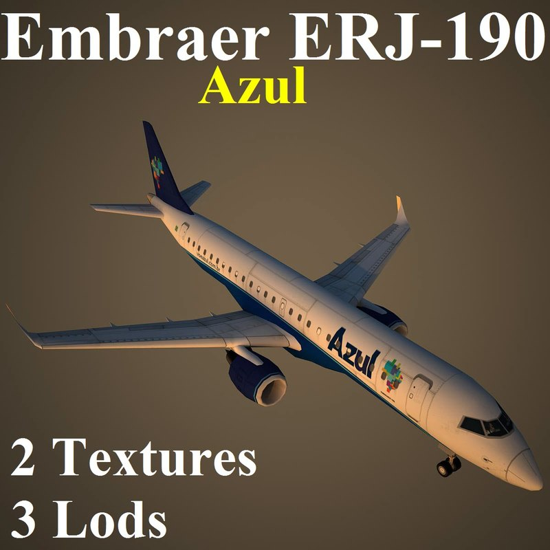embraer azu 3d model