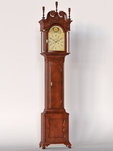 3d carved clock model