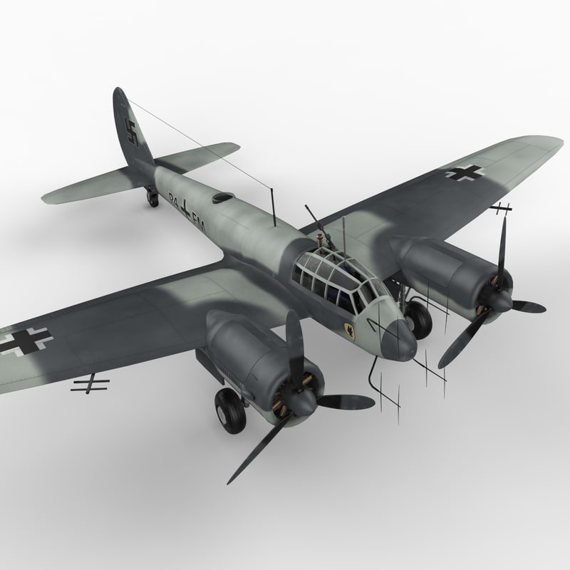 junkers ju fighter 88 3d model