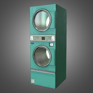 3ds max laundromat dryer ready pbr