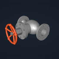 mechanical valve 3d model