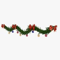 3d model christmas garland 2