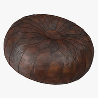 moroccan leather poufs max
