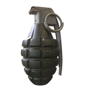 3ds max grenade hand
