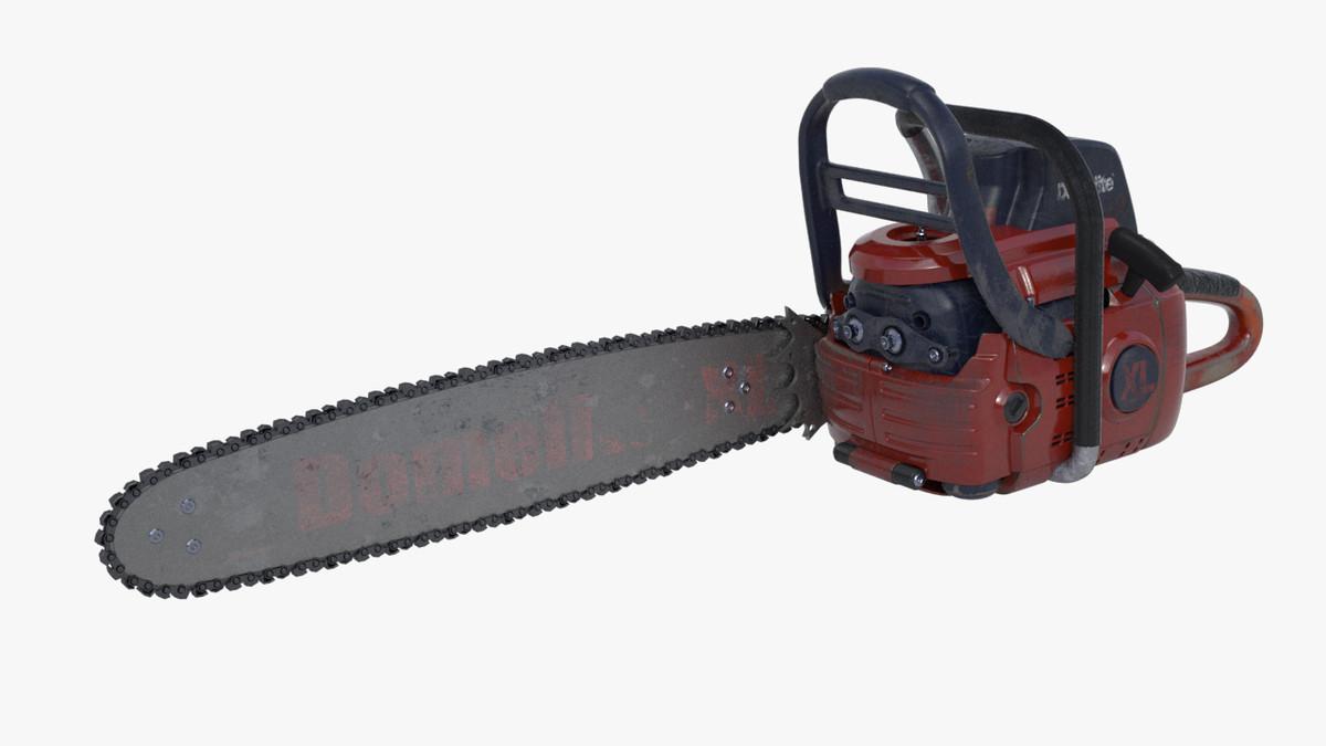 3ds max worn chainsaw