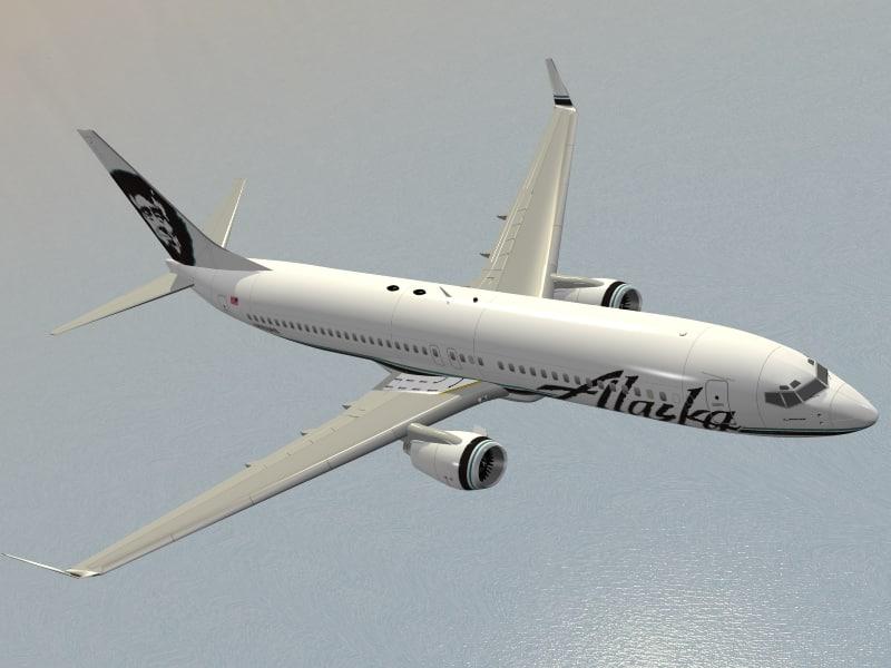 boeing 737-800 alaska airlines 3d model