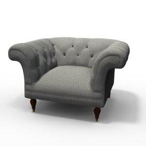 beverly chair 3d obj