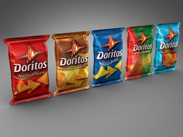 doritos chip 3d dxf