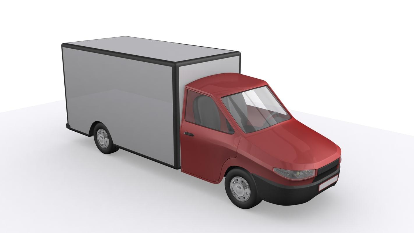 car truck trailer delivery van 3d max