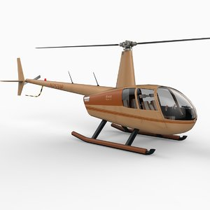 3d model robinson r44