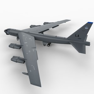 b52 stratofortress bomber b-52 aircraft 3d model