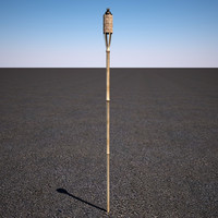 tiki yard torch 3d model