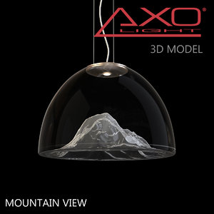 axo light mountain view 3d model