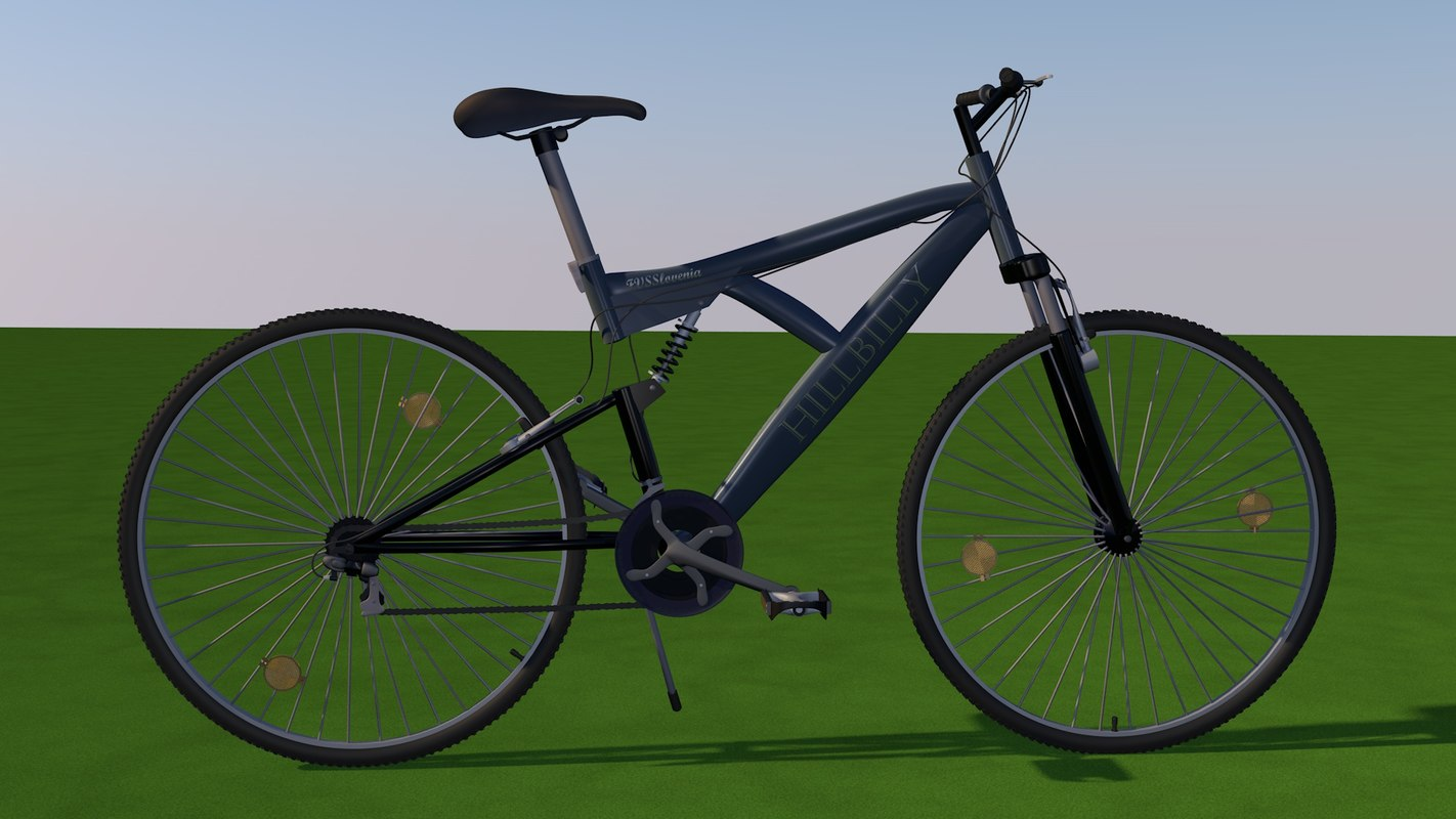 3d model mountain bicycle
