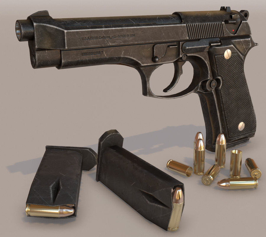3d beretta 92fs ready pistol model