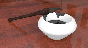 chinese calligraphy set 3d model