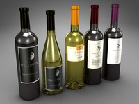 3d model of bottles folio wines