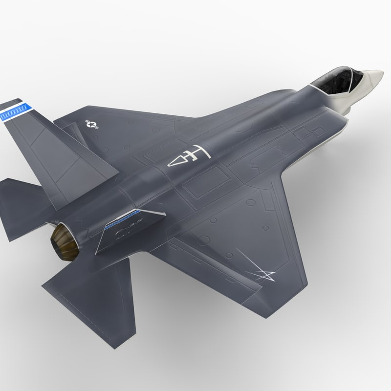 f35 strike fighter joint 3d model