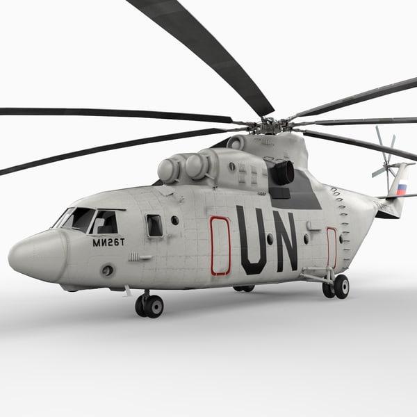 mil mi-26 helicopter 3d model