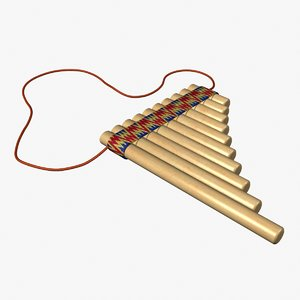 3d pan flute andean model