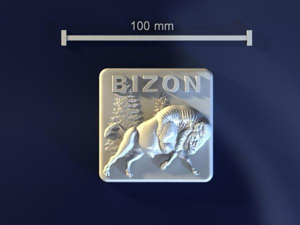 3d model of bizon mold hand